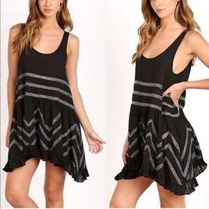 Free People Viole lace dot dress top shirt blouse